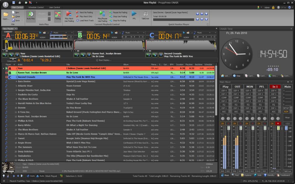 ProppFrexx ONAIR, betaalbaar professioneel radio automatisering programma