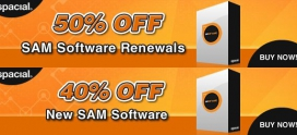 Sam/Spacial actie 40% korting nieuw en upgrade 50% op licentie