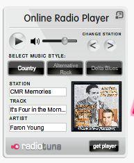 Flash player met nu speelt en album cover voor op website